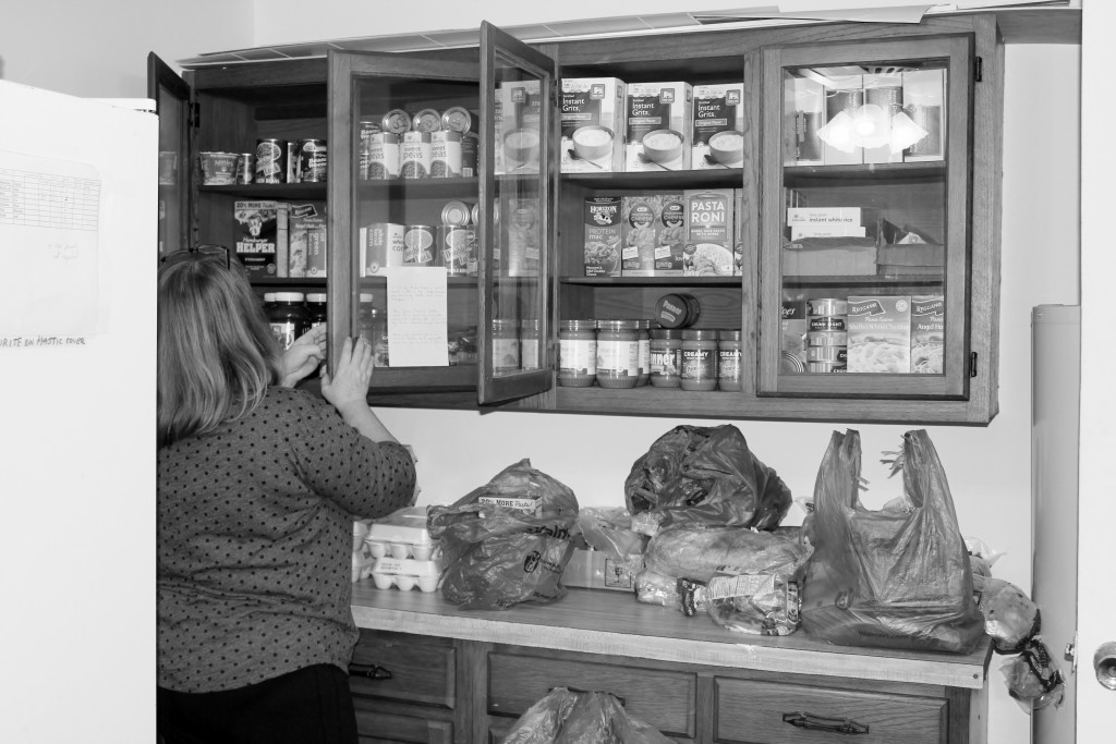 Portion of the Food Pantry at Zebulon United Methodist Church. Photo provided by Cindy Privette.