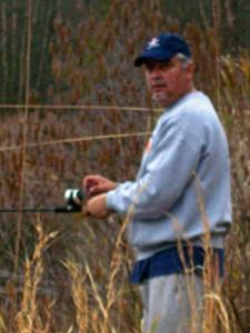Frank Whatley fishing near NC home