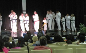 Karate Demonstration in Previous Year's talent show. Photo Source: Louis Thomas III.