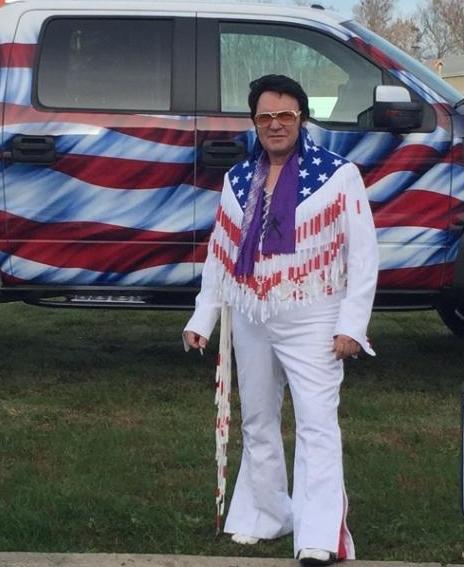 "Elvis Impersonator Andy ""Elvis"" Woodall. Source: Andy Woodall."