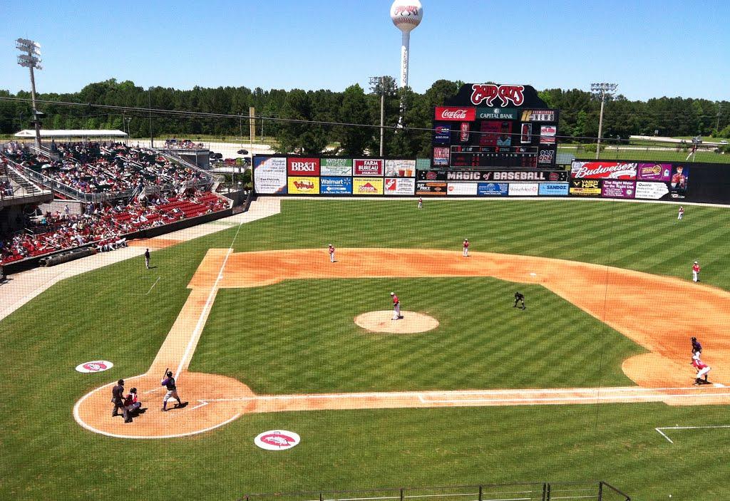 Carolina Mudcats at Five County Stadium, February 28, 2014. Source: James Willamor of Raleigh NC.