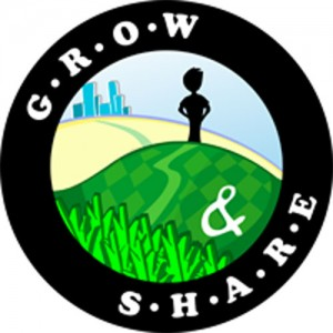 Grow And Share logo, by Rachel Hestilow. Source: growandshare.org.