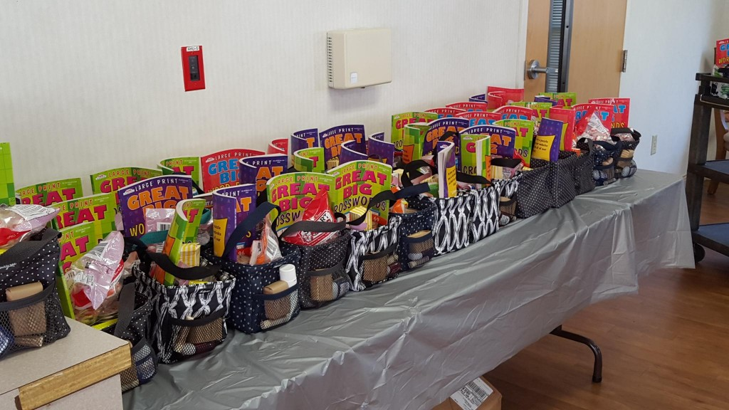 Another view of the love totes, before residents arrived. Photo: John Aceti.