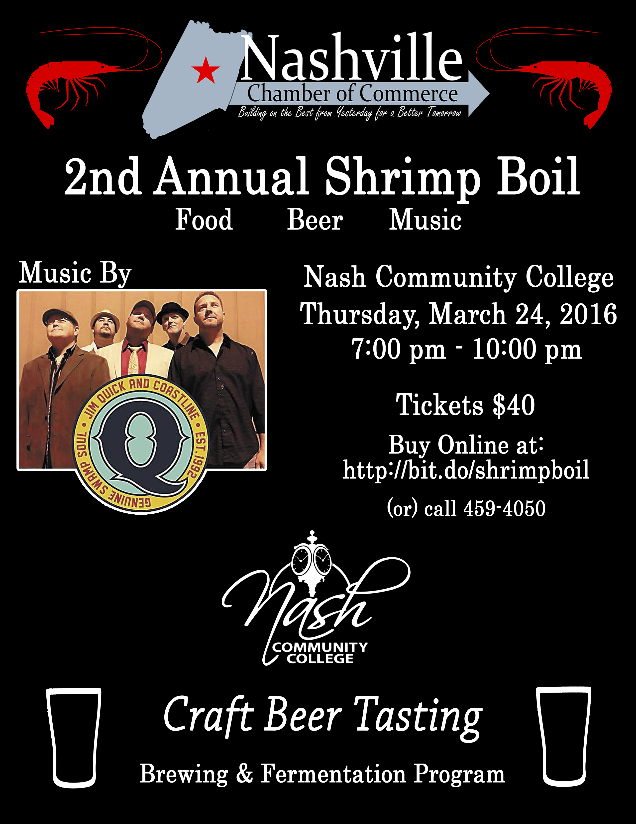 2016 Shrimp Boil Flyer. Source: Nashville Chamber of Commerce, Nashville NC.