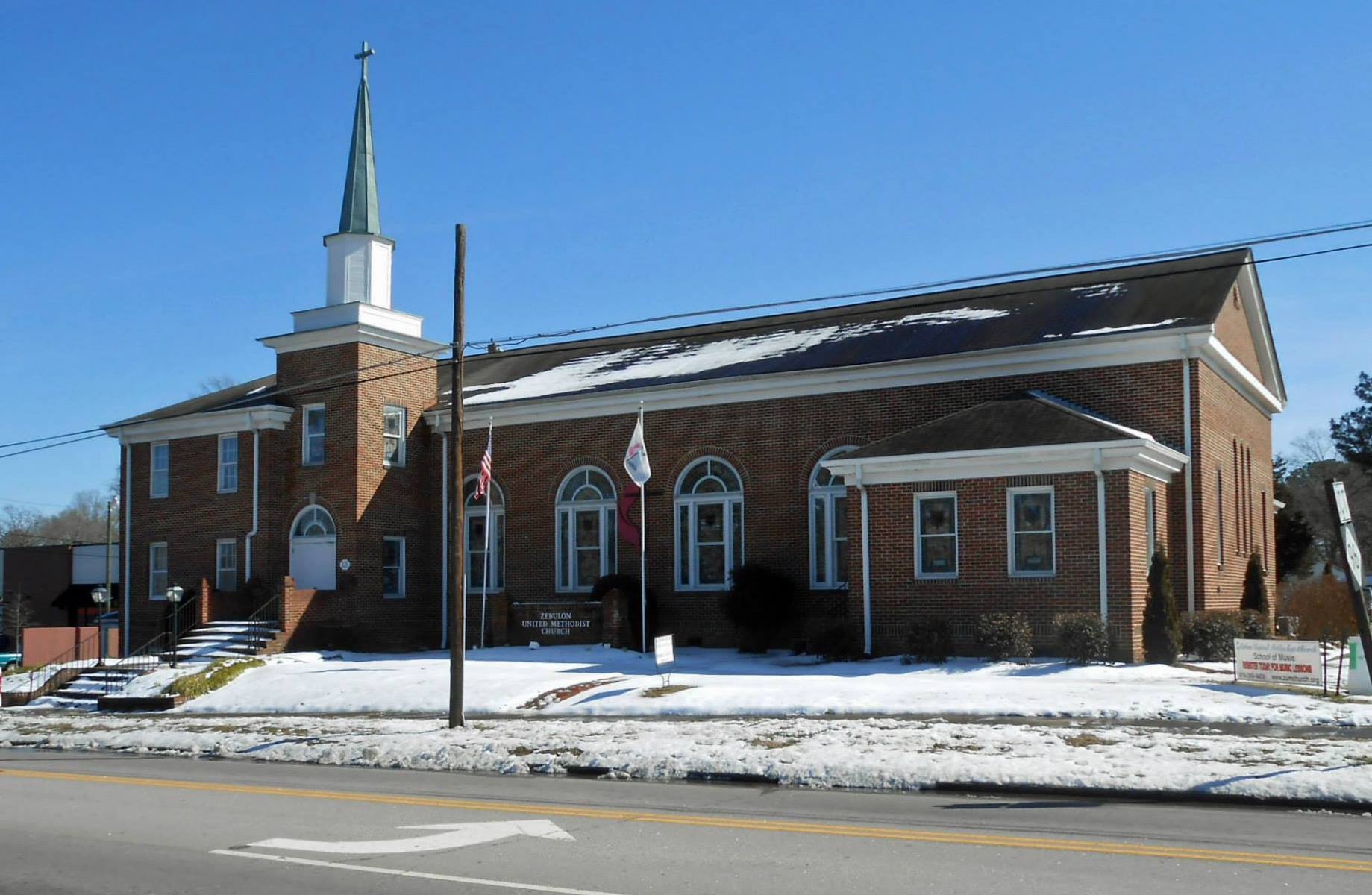 Zebulon United Methodist Church in Zebulon NC. Photo Source: ZebulonUMC Facebook.