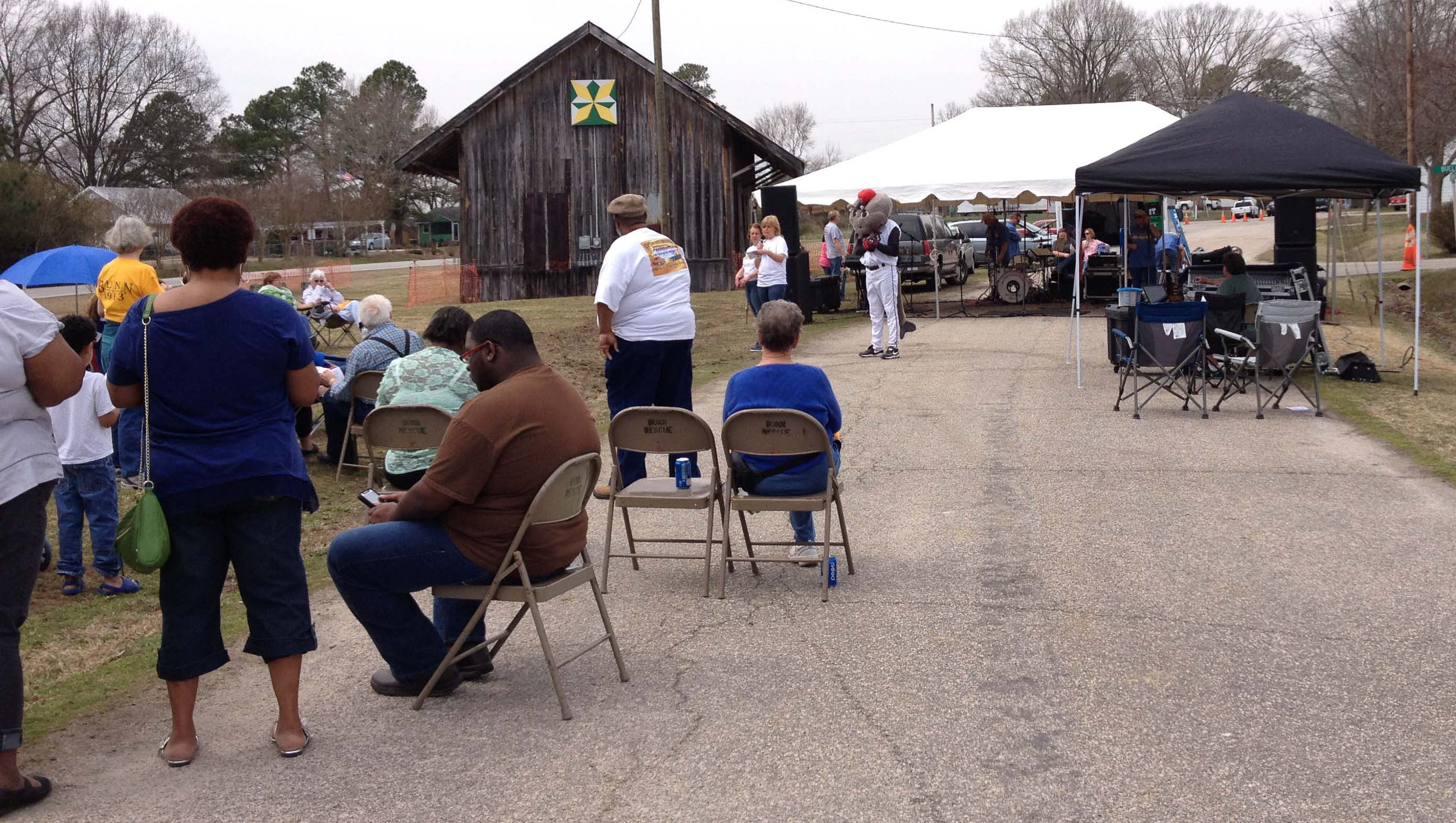 A shot of a Railroad Street event in 2014. Source: Frank and Kay Whatley.