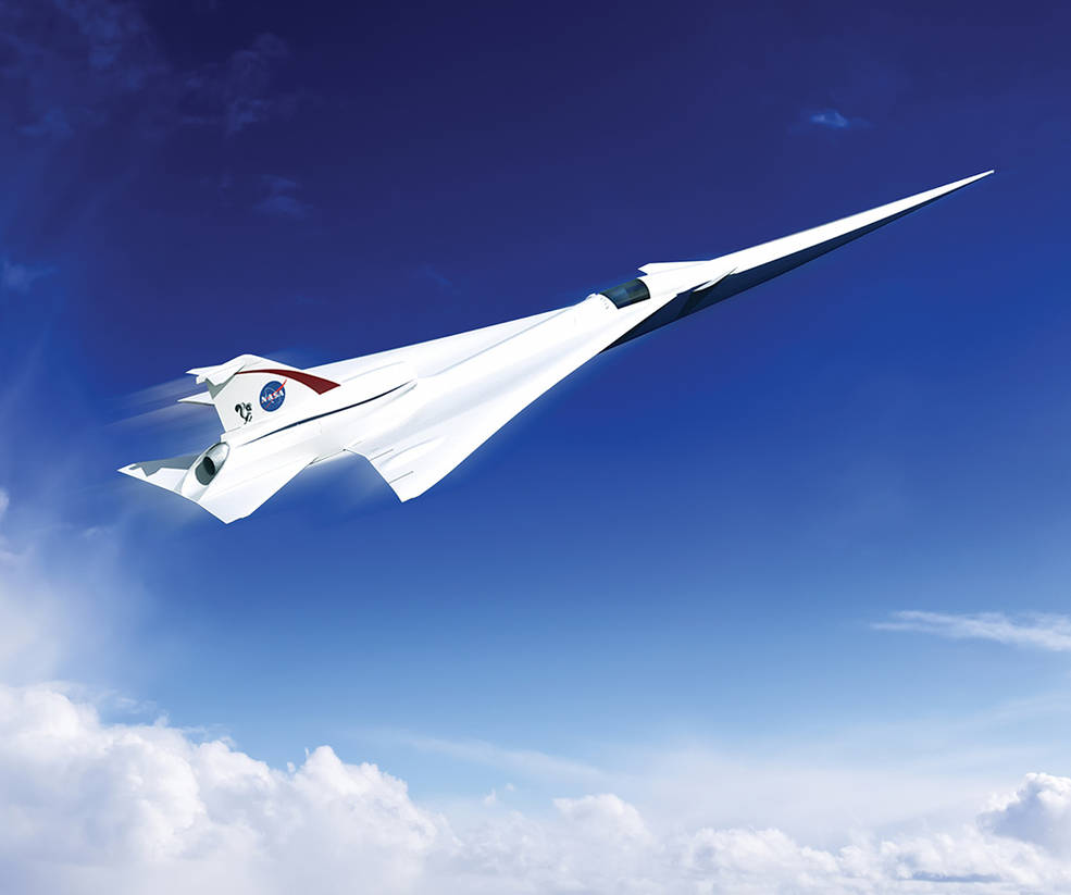 This is an artist's concept of a possible Low Boom Flight Demonstration Quiet Supersonic Transport (QueSST) X-plane design. The award of a preliminary design contract is the first step towards the possible return of supersonic passenger travel – but this time quieter and more affordable. Credit: Lockheed Martin.