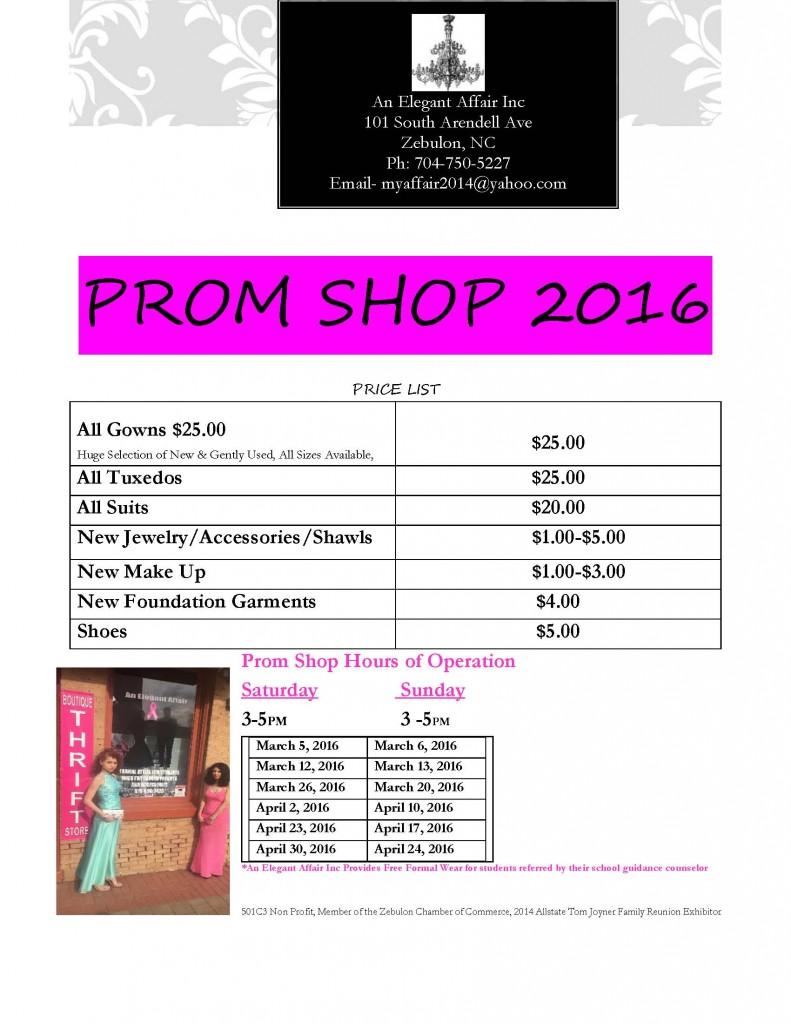 Prom Shop 2016