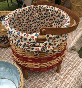 Basket for sale in vendor booth at the Country Doctor Museum (Bailey NC) during special event April 30, 2016. Photo: Kay Whatley.