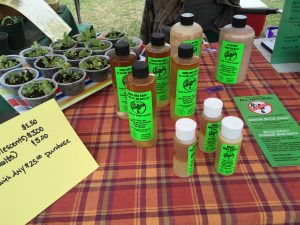 Twin Oaks Farm bug repellant at the Country Doctor Museum (Bailey NC) during special event April 30, 2016. Photo: Kay Whatley.