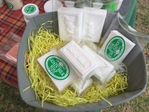 Twin Oaks Farm goats milk soaps at the Country Doctor Museum (Bailey NC) during special event April 30, 2016. Photo: Kay Whatley.