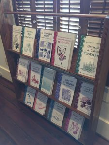 Herb books for sale at the Country Doctor Museum (Bailey NC) during special event April 30, 2016. Photo: Kay Whatley.