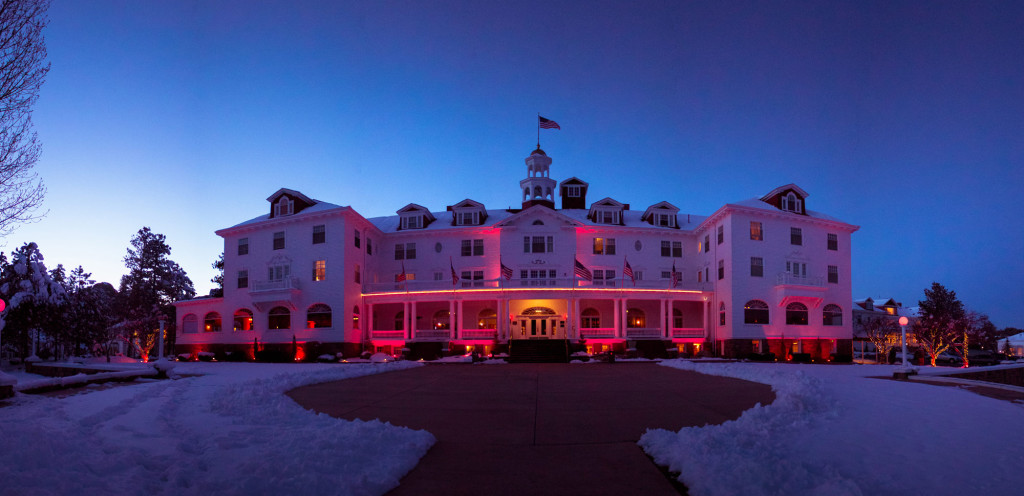 The Stanley Hotel panorama. Source: The Stanley Film Festival, Estes Park CO.