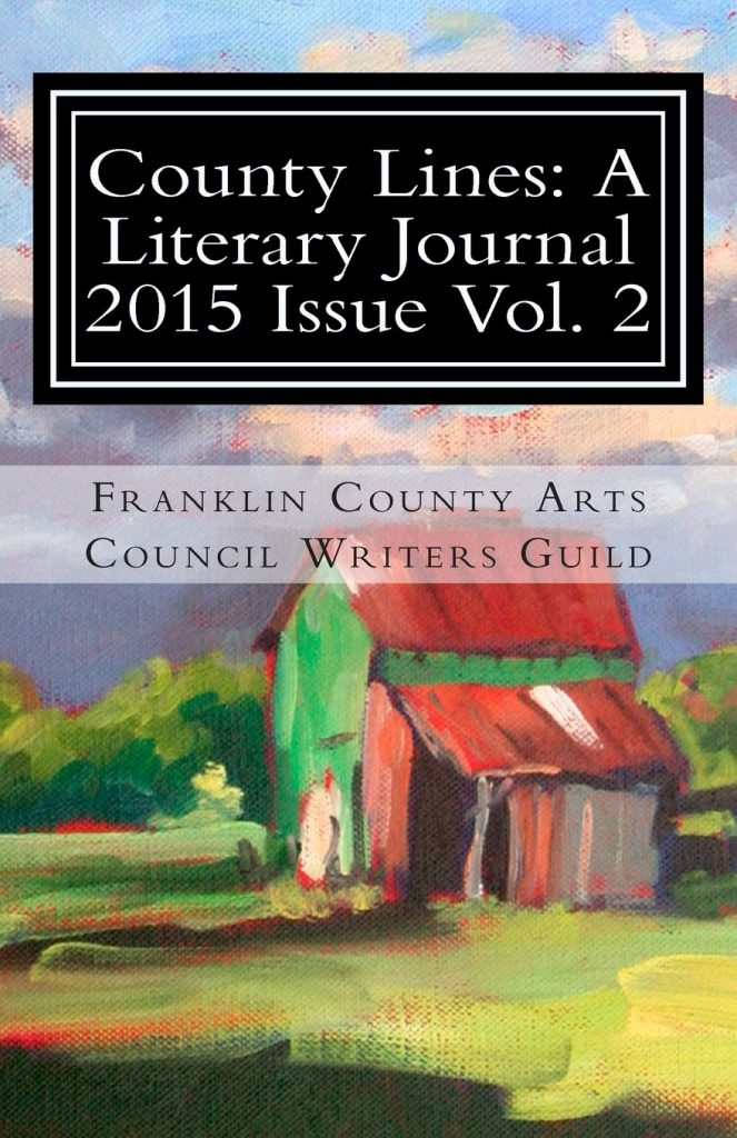 Cover for 2015 Franklin County NC Writers Guild literary journal.