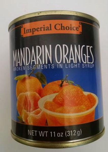 Recalled Mandarin Oranges. Source: FDA.gov Recall notice.