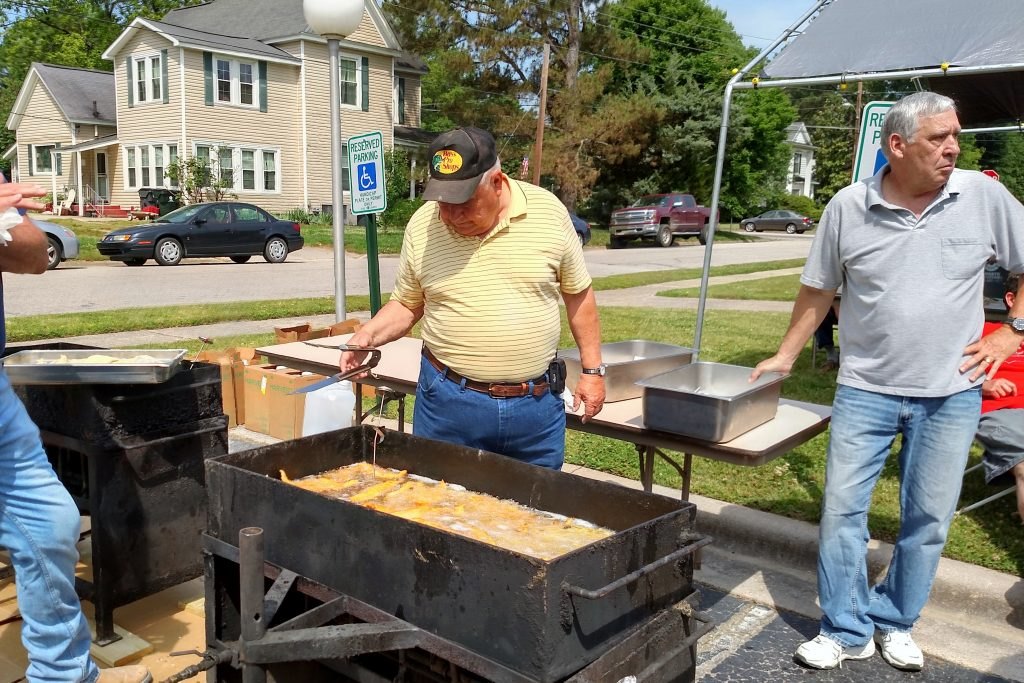 United Methodist Men fish fry in 2015. Source: Zebulon United Methodist Church, Zebulon NC.