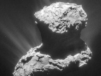 Rosetta Comet image released by Jet Propulsion Laboratory, California.
