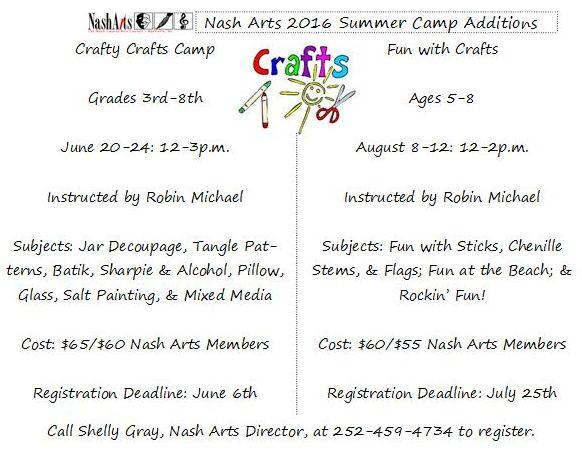 Nashville NC Summer Camps. Source: NashArts.org