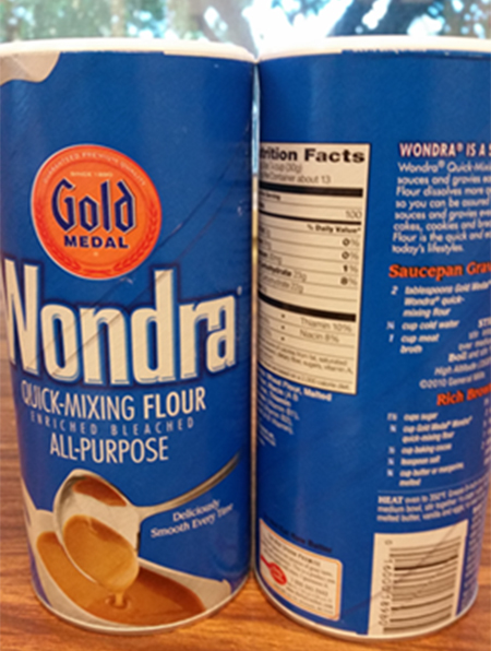 Wondra Flour also recalled, General Mills working with the FDA, possible e. coli contamination. Source: FDA.gov.