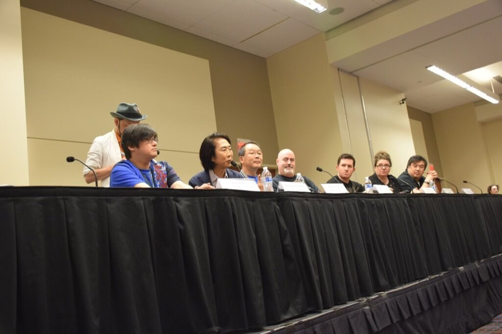 Panel at the 2016 Animazement, Raleigh NC. Photo: Mitch Amiano.