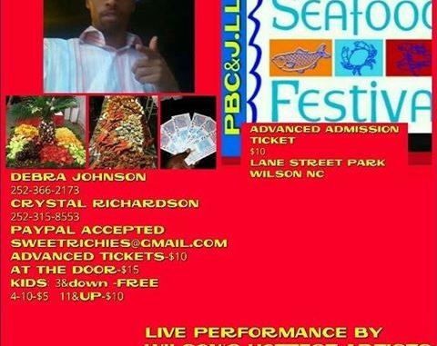 Seafood Festival flyer. Source: Crystal Richardson, Wilson NC.