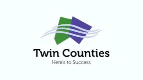 The Twin Counties campaign logo.