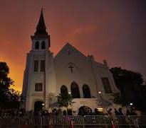The church at night. Source: Emanuel African Methodist Episcopal (AME) Church, Charleston SC.