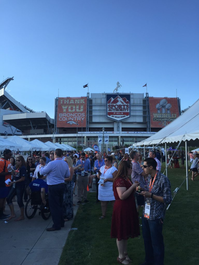 Part of the crowd at the Taste of the Broncos, held June 14, 2016, at Sports Authority Field, Denver CO. Photo: Jason Hernandez.
