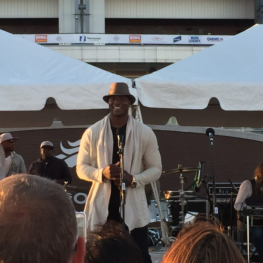 DeMarcus Ware performed at the Taste of the Broncos 2016, at Sports Authority Field, Denver CO. Photo: Jason Hernandez.