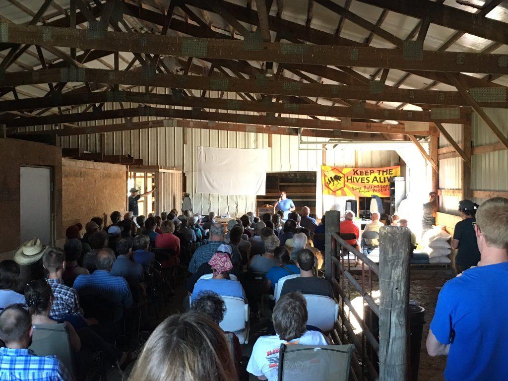 Keep Hives Alive tour stop 2016 in Brookings, South Dakota. Source: Preston Peck, Toxic Free NC, Raleigh NC.