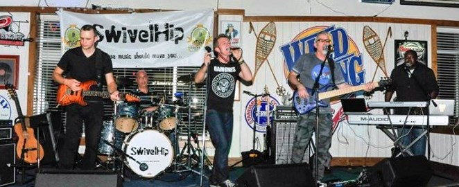 The Swivelhip Band performs August 5 in the 2016 1st Fridays on the Lawn series, Wilson NC. Source: wilsonnc.org.