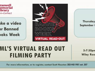 Banned Books focus of event, video. Source: Scott Houston, Braswell Memorial Library, Rocky Mount NC.