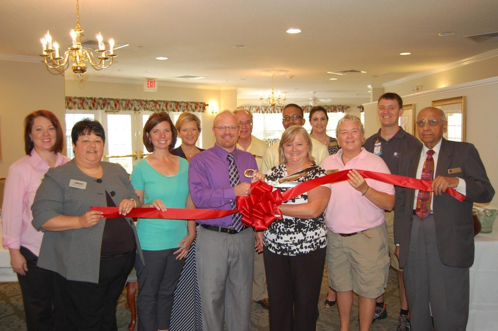 Knightdale Chamber members welcomed Tom Miller of Leaders Building Leaders and Glennie Ainsworth CPA at a Red Ribbon Showcase in May 2014. Source: Knightdale Chamber of Commerce, Knightdale NC.