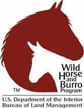 BLM Wild Horse and Burro Program logo.