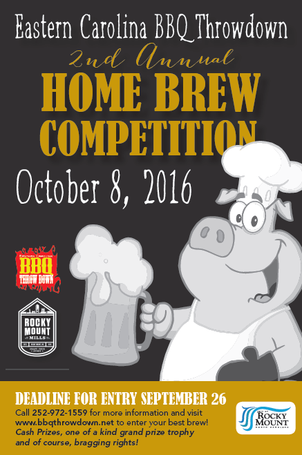 Home Brew competition poster. Source: City of Rocky Mount NC.