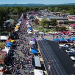 Aerial View of the 27th Annual Taylorsville Apple Festival in 2015. Source: Taylorsville Apple Festival, Inc., Taylorsville NC.