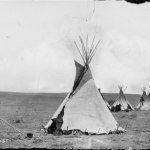 Ute Encampment site near Denver. Photographed by William Henry Jackson (1843-1942) during the Hayden Geological Survey of 1874. Credit: History Colorado.