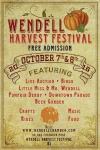 Wendell Harvest Festival 2016 poster