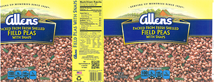Another of several foodservice  products recalled for shellfish contamination in vegetables. Source: US FDA.