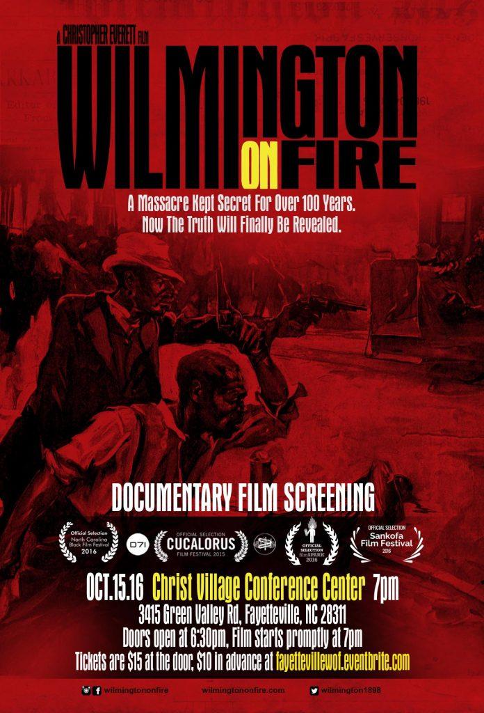 Fayetteville NC showing of Wilmington On Fire. Source: Speller Street Films.