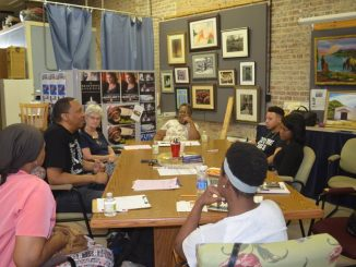 Poetry workshop held in August brought local writers together. Source: Jackie Dove-Miller, Franklin County Arts Council, Franklinton NC.