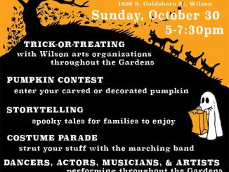 Wilson Botanical Gardens' Halloween event flyer 2016.