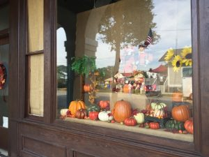 Shop dressed up for October in Spring Hope, North Carolina. Photo: Kay Whatley.