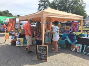 Local art for sale at the 2016 National Pumpkin Festival in Spring Hope, North Carolina. Photo: Kay Whatley.