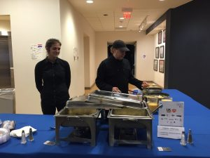 Kaplan Catering serving eggs during the Zebulon Next Conference, October 6, 2016. Photo: Kay Whatley.
