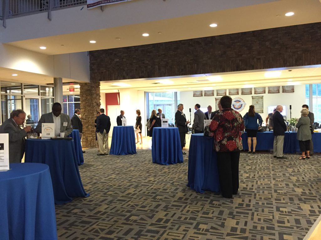 Early arrivers and Zebulon Chamber members began the day early the Zebulon Next Conference, October 6, 2016. Photo: Kay Whatley.