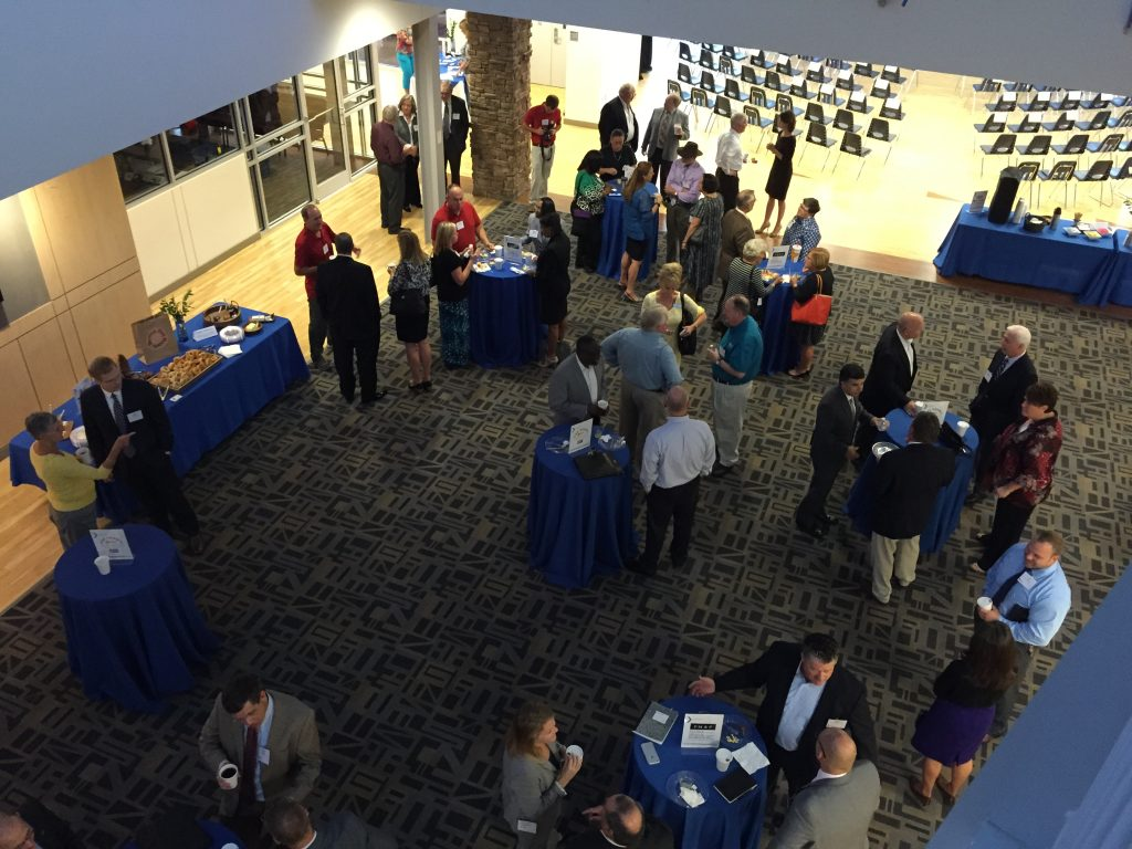 Crowd networking at the Zebulon Next Conference 2016. Photo: Nadia Ethier.