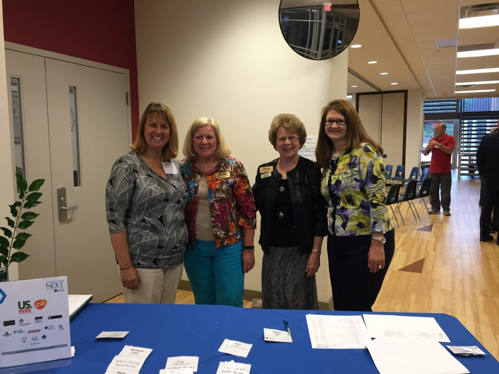 Zebulon Next registration team welcomed each attendee. Photo: Nadia Ethier.