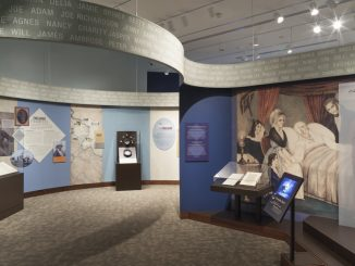 A gallery scene from Mount Vernon's newest exhbition, Lives Bound Together. The exhibition opened October 1, 2016 at Mount Vernon and will be on view through late 2018. Source: PRNewsFoto/George Washington's Mount Vernon, Virginia.
