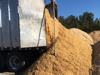 "According to the NCDA&CS, delivery of ""carbon materials"" began October 13, 2016, for on-farm composting efforts. Source: NCDA&CS, Raleigh NC."